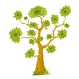 Karikatur-Bonsai-Baum Lizenzfreie Stockbilder