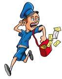 Karikatur-Briefträgerbetrieb Lizenzfreie Stockbilder