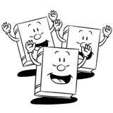 Karikatur-Buch-Vektor-Illustration Stockfotografie