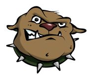 Karikatur-Bulldogge Stockfotos