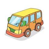 Karikatur-Bus gefärbt Stockbilder