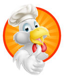 Karikatur-Chef Chicken Stockfoto
