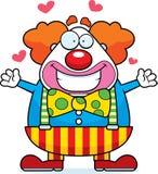 Karikatur-Clown Hug stock abbildung