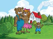 Karikatur der drei Bären Stockbild