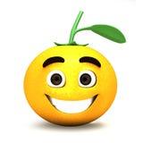 Karikatur der glücklichen Orange Lizenzfreies Stockfoto
