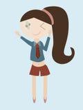 Karikatur der Mädchentschüsshand Lizenzfreie Stockfotografie