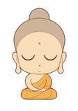Karikatur des buddhistischen Mönchs Lizenzfreie Stockfotografie