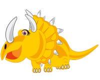 Karikatur des Dinosauriers Eotriceratops Vektorillustration des Dinosauriers Stockbilder
