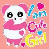 Karikatur des Pandas mit Liebesform Lizenzfreie Stockfotografie