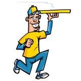Karikatur des Pizzaanlieferungsjungen Lizenzfreie Stockfotografie