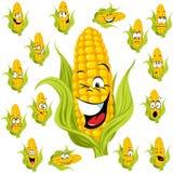 Karikatur des süßen Mais Lizenzfreies Stockfoto