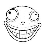 Karikatur des verrückten Lächelns Lizenzfreies Stockbild