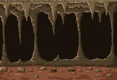 Karikatur die Höhle mit Stalaktiten Lizenzfreies Stockbild