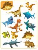 Karikatur Dino - zusammenpassendes Spiel Lizenzfreies Stockbild