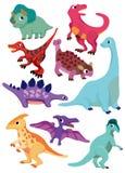 Karikatur-Dinosaurierikone Lizenzfreie Stockfotografie