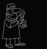 Karikatur-Doktor Lizenzfreie Stockfotos