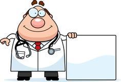 Karikatur-Doktor Sign Stockfotografie