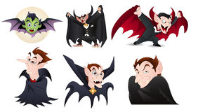 Karikatur-Dracula-Charakter-Vektoren Lizenzfreie Stockfotos