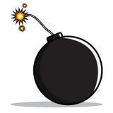 Karikatur einer Bombe Stockbilder