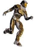 Karikatur eines futuristischen Kriegers Stockfotos