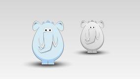 Karikatur-Elefant im Vektor Stockbild