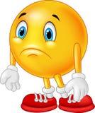 Karikatur Emoticon traurig Stockfotos
