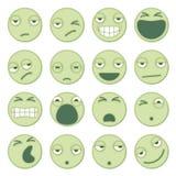 Karikatur Emoticons, die unvorsichtig schauen Stockbild