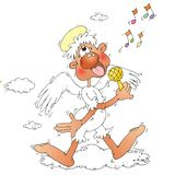 Karikatur-Engel Lizenzfreies Stockbild