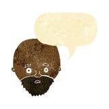Karikatur entsetzte Mann mit Bart mit Spracheblase Stockfotos