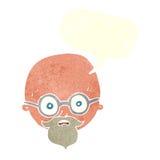 Karikatur entsetzte Mann mit Bart mit Spracheblase Lizenzfreie Stockfotografie