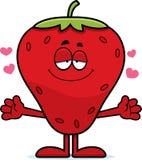 Karikatur-Erdbeerumarmung Lizenzfreie Stockbilder