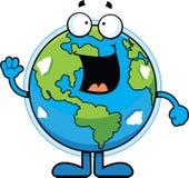 Karikatur-Erde glücklich Stockfoto