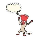 Karikatur erschrockener Affe mit Spracheblase Stockfoto
