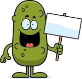 Karikatur-Essiggurken-Zeichen Lizenzfreie Stockfotos