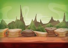 Karikatur-Fantasie-Sciencefiction Martian Background lizenzfreie abbildung