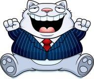 Karikatur-Fett Cat Suit Lizenzfreies Stockbild