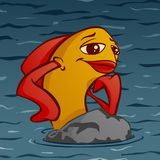 Karikatur-Fische Lizenzfreie Stockfotos