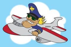 Karikatur-Fluglinien-Pilot Stockfotografie