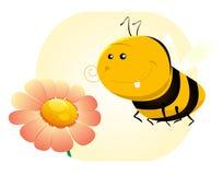 Karikatur-Frühling oder Sommer-Biene Lizenzfreies Stockbild
