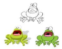 Karikatur-Frosch Stockfoto