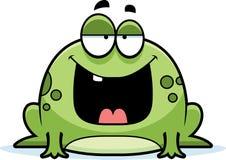 Karikatur-Frosch-Lächeln Stockfotografie