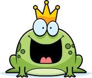 Karikatur-Frosch-Prinz Stockfoto