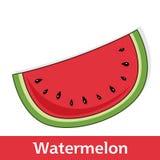 Karikatur-Frucht - süße Wassermelonen-Scheibe Stockfotos