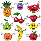 Karikatur-Frucht-Zeichen Lizenzfreie Stockbilder