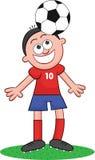 Karikatur-Fußball-Spieler-Überschrift Lizenzfreie Stockbilder