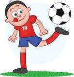 Karikatur-Fußball-Spieler-Spielen Lizenzfreie Stockfotografie