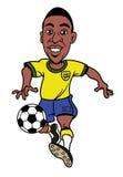 Karikatur-Fußballspieler Stockbilder