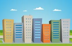 Karikatur-Gebäude Stockbilder