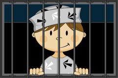 Karikatur-Gefangener stock abbildung
