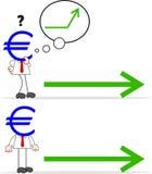 Karikatur-Geld-Kopf-Geschäftsmann Lizenzfreie Stockfotografie